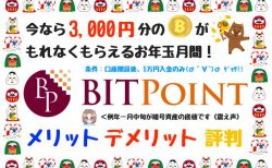 【XRP取引可】BITPOINT(ビットポイント)のメリット・デメリット・評判口コミは?【お正月1月版】