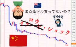 【円高】長期投資向きの豪ドル(イケハヤ氏談)が急落!理由と今後の展望は?【ロウ・ショック】