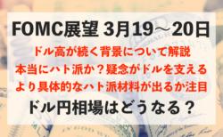 3月19〜20日のFOMCでドル安になるか注目!今後のドル円相場の展望について【ドルインデックス】