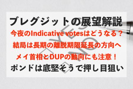【ブレグジット】本日のIndicative votesの見どころや今後の展望について解説【ポンド】