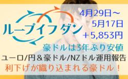 【円高】ループイフダン+5,853円!豪ドル円はだだ下がりでイケハヤスワップ界隈はもう…【4月29日〜5月17日】