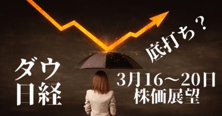 【株】乱高下は継続か?短期は戻り売り、市場はコロナ後の景気後退を考える【3月16〜20日の展望】