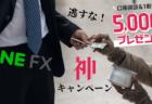【延長決定】先着4万名!LINE FXで口座開設&1回取引で5,000円もらえるどえりゃあキャンペーン実施中