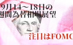 【為替】今週はFOMCに注目!基本的にはドル安想定だがポンドの動向も…【9月14〜18日の週間相場展望】
