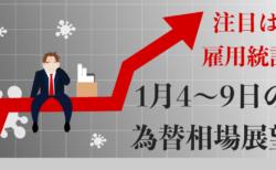 【雇用統計に注目】リスクオンから一転でややドル買い戻し!労働市場が悪化した方が株価にはプラスだが…【1月4〜8日の為替相場展望】